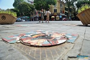 Hà Nội: Những tác phẩm nghệ thuật trên nắp cống, hố ga đã xuống cấp