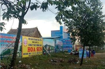 Bình Dương: Phân lô, bán đất nền trái luật ở Khu dân cư Nam Tân Uyên