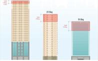 """[Infographics] Điểm danh những cao ốc vi phạm, bị """"cắt ngọn"""" ở Hà Nội"""