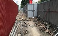 Chính quyền quây rào chuẩn bị phá dỡ cao ốc 8B Lê Trực?