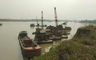 Phú Thọ: Xóa điểm khai thác cát trái phép trên sông Lô