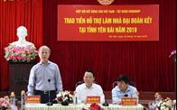 Hiệp hội Bất động sản Việt Nam trao tiền hỗ trợ làm nhà đại đoàn kết tại Yên Bái