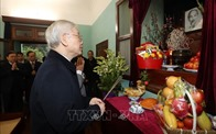 Tổng Bí thư, Chủ tịch nước dâng hương tưởng niệm Chủ tịch Hồ Chí Minh tại Nhà 67