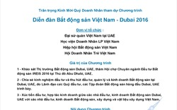 """Thư mời tham dự """"Diễn đàn Bất động sản Việt Nam – Dubai 2016"""""""