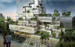 Ấn tượng với không gian xanh của tòa tháp cao nhất Thái Lan