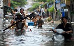 """Vì sao nhiều khu đô thị cao cấp ở Hà Nội thành """"ốc đảo"""" trong mưa?"""