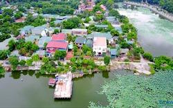 """Hà Nội: Cận cảnh biệt thự, nhà hàng """"mọc"""" trái phép ở hồ Đầm Trị"""