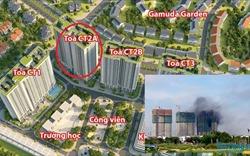 Khói đen bốc ra ngùn ngụt tại công trường dự án chung cư Gelexia Riverside 885 Tam Trinh