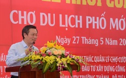 Lãnh đạo VNREA tham dự lễ Khởi công Chợ Du lịch Phố Mới Lào Cai