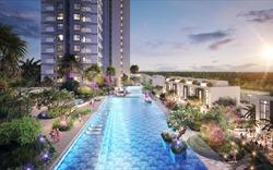 Cận cảnh bể bơi giữa lưng chừng trời của toà tháp sinh đôi đẳng cấp nhất Ecopark