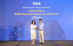 TPBank đứng đầu về tốc độ tăng trưởng doanh số giao dịch qua thẻ ghi nợ quốc tế