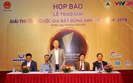 Ngày 14/4 tổ chức Lễ trao giải Giải thưởng Quốc gia Bất động sản Việt Nam 2018