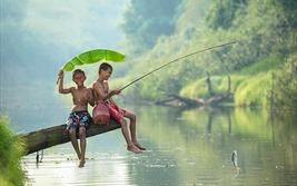 Ta còn nhỏ nữa không để một lần đội nắng về câu cá
