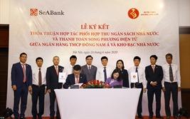 SeABank và Kho bạc Nhà nước ký thỏa thuận phối hợp thu ngân sách và thanh toán song phương điện tử