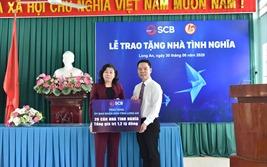 SCB ủng hộ xây dựng 20 nhà ở cho gia đình chính sách khó khăn tại tỉnh Long An