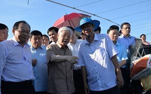 Tổng Bí thư, Chủ tịch nước Nguyễn Phú Trọng thăm và làm việc tại Kiên Giang