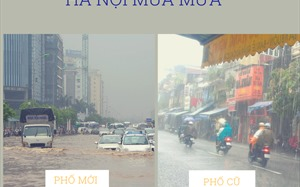 """Hà Nội mưa lớn: Tại sao phố cổ """"cạn"""", đô thị mới lại thành sông?"""