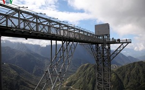 First phase of Vietnam's highest skywalk Rong May Glass Bridge opens near Sa Pa