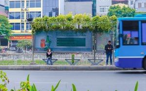 Hanoi bus stops go green