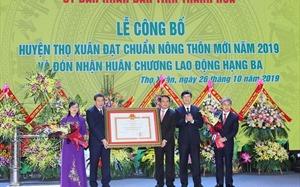 Thọ Xuân (Thanh Hóa) nhận quyết định đạt chuẩn nông thôn mới 2019