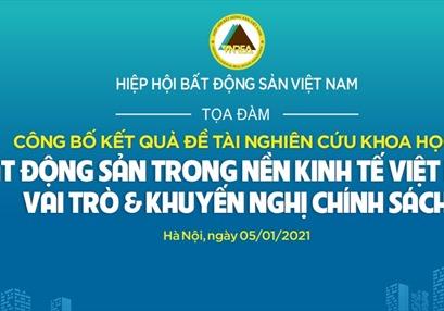 Đề tài KH: BĐS trong nền kinh tế Việt Nam - Vai trò & khuyến nghị chính sách