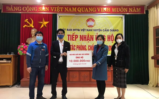 Hội Môi giới BĐS Việt Nam tại Hải Dương chung tay ủng hộ phòng chống Covid-19